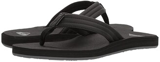 Quiksilver Carver Tropics (Black/Black/Grey) Men's Sandals