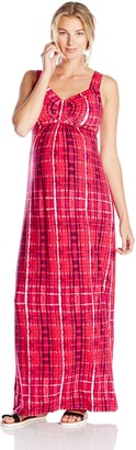 Tart Collections Women's Maternity Lynelle Rouched Sweetheart Bodice Maxi