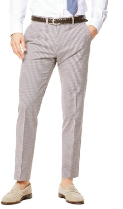 Todd Snyder Black Label Red and Navy Cotton Check Sutton Suit Trouser