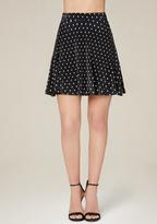 Bebe Polka Dot Miniskirt