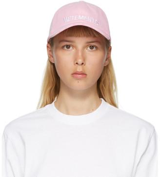 Vetements Pink Logo Cap