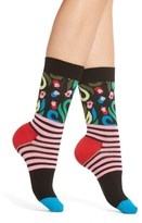Happy Socks Women's Flower Stripe Crew Socks
