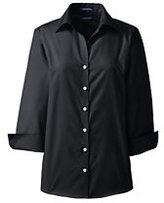 Lands' End Women's Petite 3/4 Sleeve No Iron Broadcloth Shirt-White