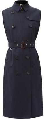 Burberry Hornsea Sleeveless Cotton-gabardine Trench Coat - Navy