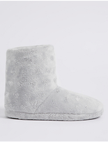 M&S Collection Heart Sequin Slipper Boots