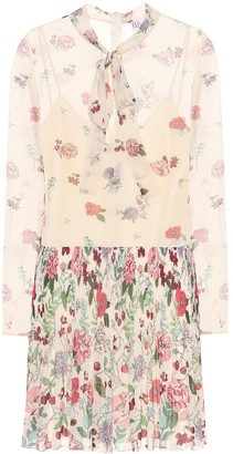RED Valentino Pleated floral minidress