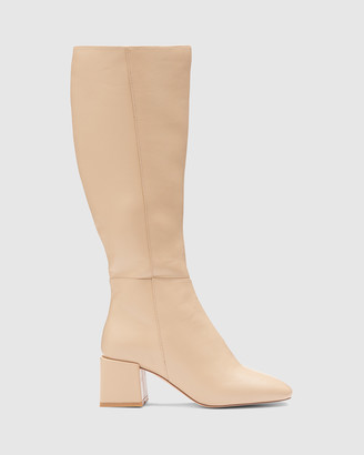 Therapy Women's Nude Long Boots - Wolf - Size One Size, 7 at The Iconic