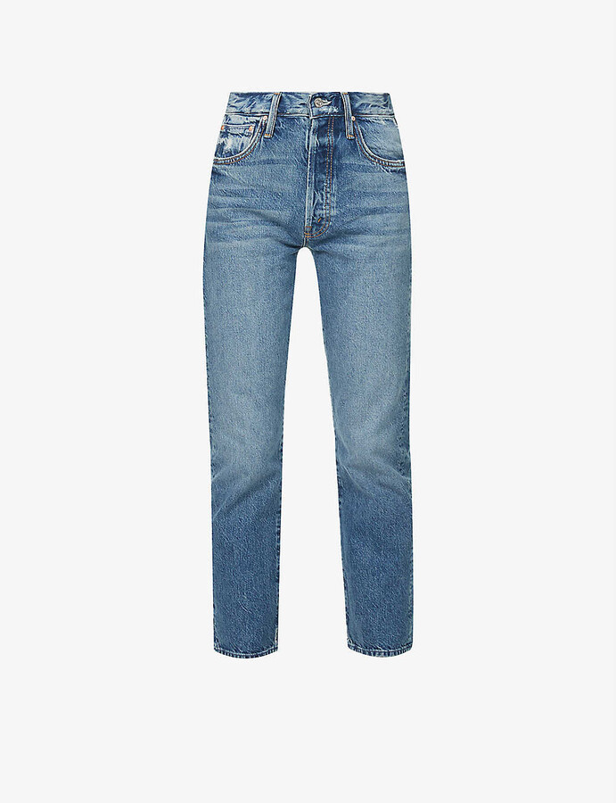 Thumbnail for your product : Mother Hiker Hover high-rise straight leg jeans
