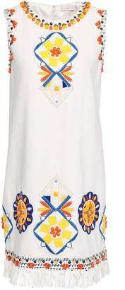 Tory Burch Embellished Linen Mini Dress