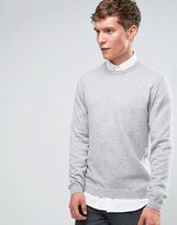 Asos Cashmere Crew Neck Sweater in Gray