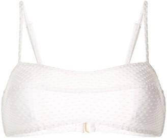 Peony Swimwear Embroidered Bikini Top