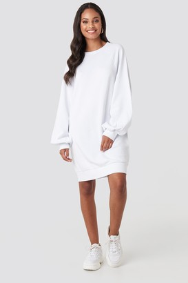 NA-KD Balloon Sleeve Sweatshirt Mini Dress