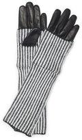 Club Monaco Abby Striped Leather Glove