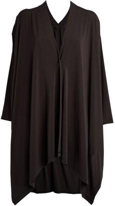 Issey Miyake Pleated Jersey Cardigan