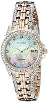 Citizen Eco-Drive Women's EW1228-53D Silhouette Crystal Watch