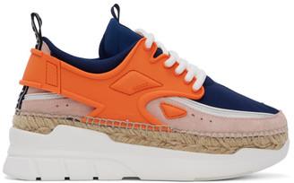 Kenzo Orange K-Lastic Sneakers