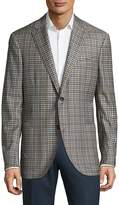 Luciano Barbera Men's Plaid Wool Jacket