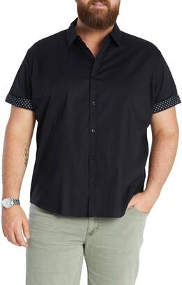 Johnny Bigg Bennett Short Sleeve Stretch Button-Up Shirt