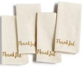 Homewear Homewear Harvest Words Thankful 4-Pc. Napkin Set