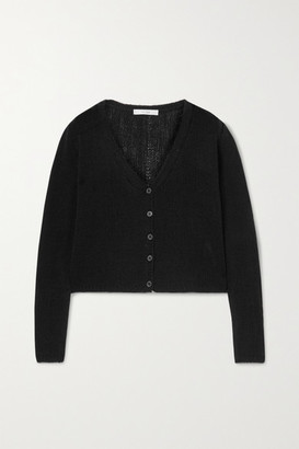 The Row Abigael Cropped Cashmere Cardigan - Black