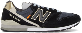 New Balance Black and Gold 996 Sneakers