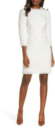 Harper Rose Long Sleeve Tweed Sheath Dress