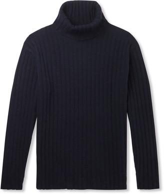 NN07 Davies Ribbed Wool-Blend Rollneck Sweater