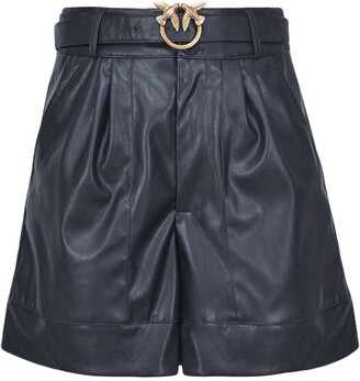 Pinko Love Birds Buckle Shorts