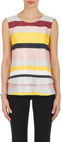 Lisa Perry Women's Striped Plain-Weave Swing Top