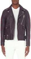 Diesel L-beck Embroidered Leather Biker Jacket
