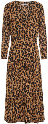 Reformation Leopard-print Crepe Midi Dress