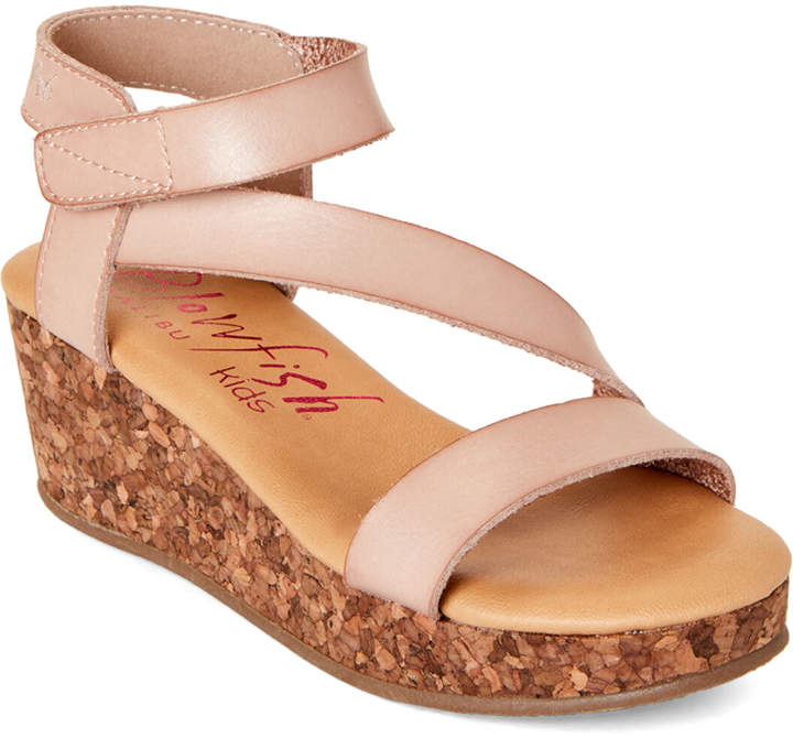 97fc22f938a2d Malibu Kids (Kids Girls) Blush Loverli Platform Wedge Sandals