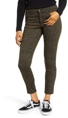 STS Blue Ellie Leopard Print High Rise Ankle Skinny Jeans