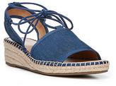 Franco Sarto Liona Denim Jute Wedge Sandals
