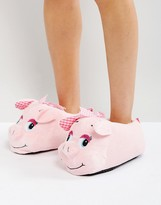 Loungeable Pink Pig 3d Slippers