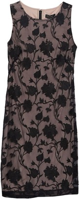 DKNY Sleeveless Embroidered Floral Dress