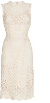 Dolce & Gabbana Nude Sleeveless Lace Dress