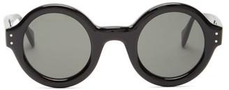 Gucci Round Acetate Sunglasses - Black Grey