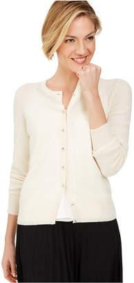 Charter Club Cashmere Crystal-Button Cardigan, Regular & Petite Sizes