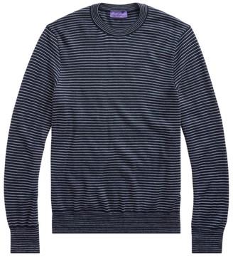 Ralph Lauren Purple Label Purple Label Striped Cashmere Pullover