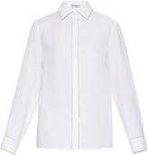 Balenciaga Chain-trim crepe shirt