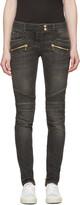 Balmain Grey Biker Jeans