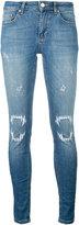 Zoe Karssen vampire detail jeans - women - Cotton/Polyester/Spandex/Elastane - 24
