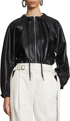 Proenza Schouler White Label Crop Leather Jacket