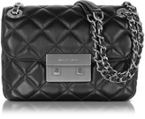 Michael Kors Sloan Small Quilted-Leather w/Brushed Nickel Chain Shoulder Bag