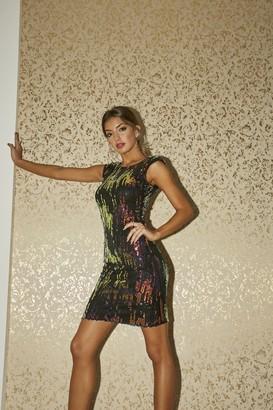 Girls On Film Aion Petrol Sequin Bodycon Mini Dress
