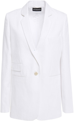 Ann Demeulemeester Cotton And Linen-blend Twill Blazer