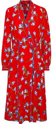 Rag & Bone Hugo Floral-print Crepe Midi Wrap Dress