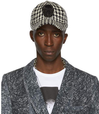Alexander McQueen Black and Off-White Bullion Skull Cap