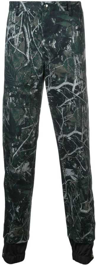 Lanvin printed double hem trousers